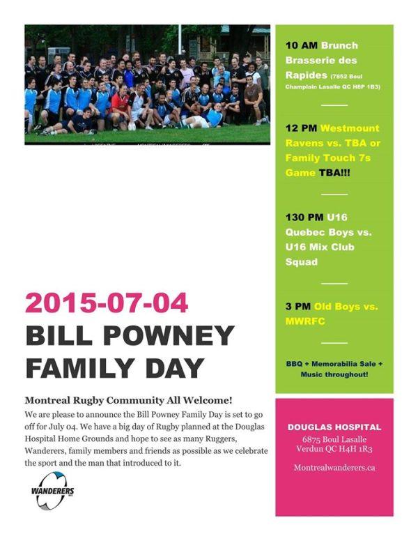 Bill Powney Family Day 2015